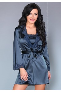 Комплект: халат, сорочка и стринги
