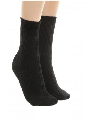 Теплые носки с ангорой и шерстью - черный, бежевый, серый, коричневый
