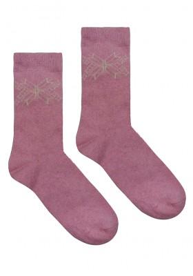 Теплые женские носки с орнаментом