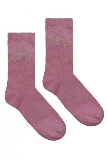 Теплые женские носки с орнаментом Marilyn ANGORA L26
