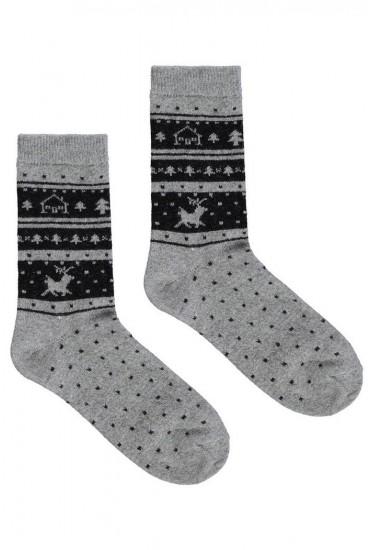 Теплые женские носки с орнаментом Marilyn ANGORA L24