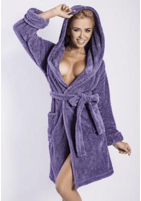 Теплый женский халат - Малиновый, фиолетовый, темно-синий