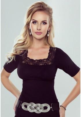 Блузка - черная, кремовая, пудровая