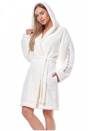 Теплый халат с капюшоном 9131