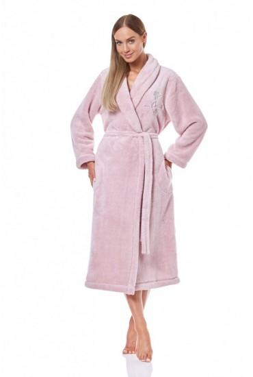 Теплый женский халат 9140