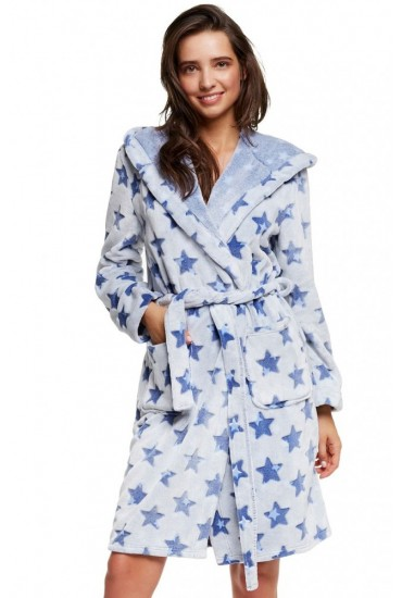 Теплый женский халат 37522 HURRY Henderson