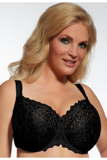 Бюстгальтер с мягкими чашками для большой груди Kris Line  12 Betty soft black