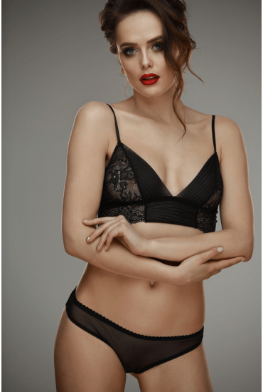 Бралетт L'amore Mery black bra L