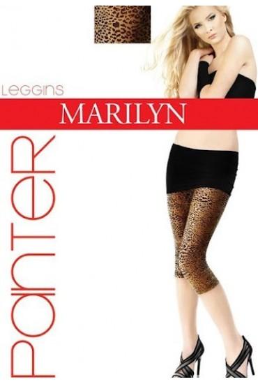 Модные леопардовые лосины-капри LEGGINSY PANTER SHORT