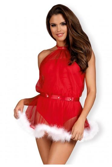 Новогодний комплект Obsessive Santastic dress