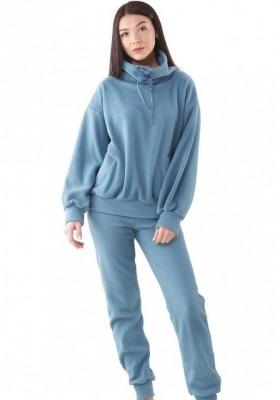 Теплый костюм из флиса - Серо-голубой, коричневый, горчичный