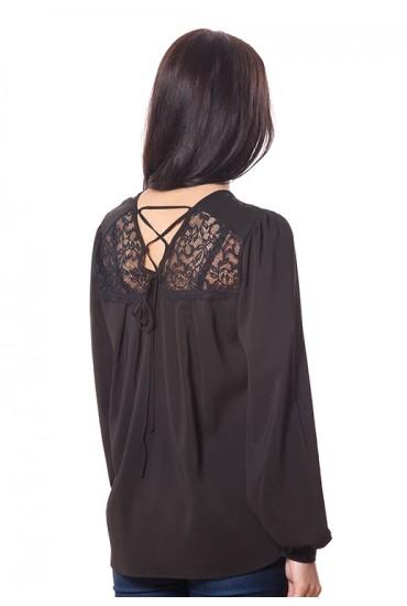 Блузка с кружевом и модными рукавами BL 177