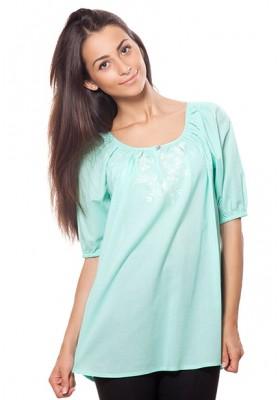 Блузка из хлопка с вышивкой