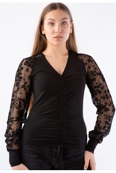 Блузка с кружевными рукавами BL 298